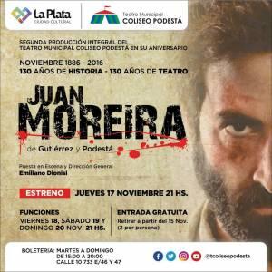 Segunda producción integral del Teatro Municipal Coliseo Podestá: Juan Moreira