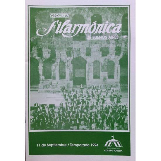 Concierto Orquesta Filarmonica de Buenos Aires