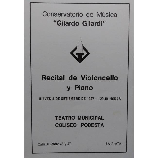 Recital de Violoncello y Piano