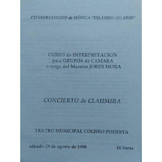 Concierto Música de Camara