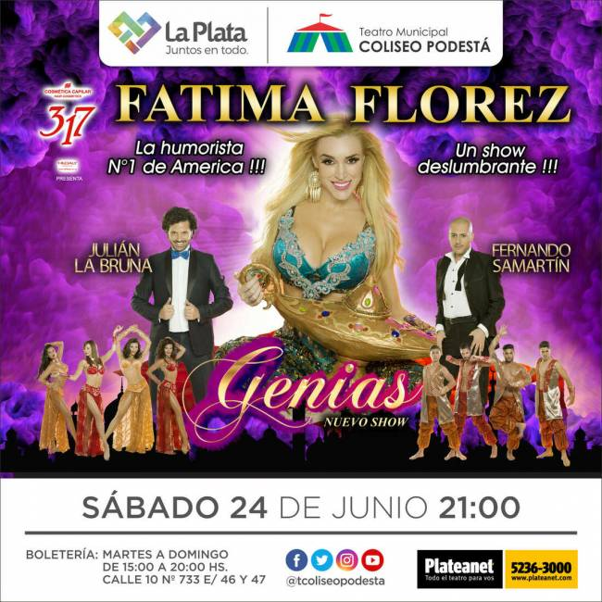 Fátima Florez. Genias
