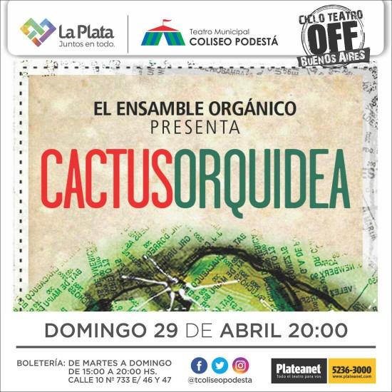 Ciclo Teatro Off Buenos Aires. Cactus orquídea