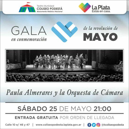 Gala 25 de Mayo. Paula Almerares y la Orquesta de Cámara