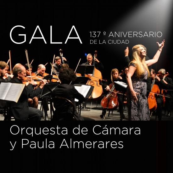 GALA ANIVERSARIO CON LA ORQUESTA DE CAMARA Y PAULA ALMERARES
