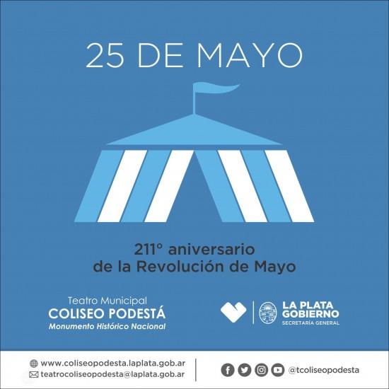 25 de mayo- 211° aniversario de la Revolución de Mayo