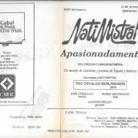 """""""Nati Mistral apasionadamente"""""""