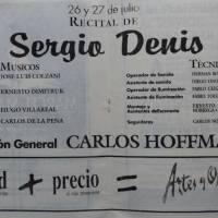 Recital de Sergio Denis