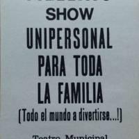 """""""Show unipersonal para  toda la familia"""""""