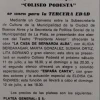 """La casa de Barnarda Alba""/""España Canta"""