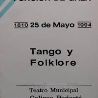 Velada de Gala: Tango y Folklore