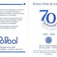 """70° Aniversario Rotary Club de La Plata"""