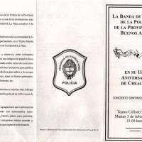 117º Aniversario de la Banda de Música de la Policia Bonaerense