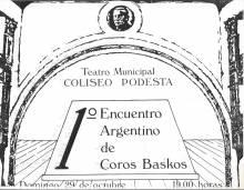 1º Encuentro argentino de Coros Baskos