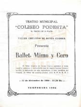 """""""Ballet, Mimo y Coro"""""""