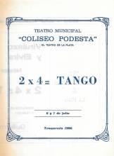 """""""2 x 4 = tango"""""""