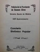 108º Aniversario División de Banda de Música - Concierto Sinfónico Popular