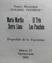 M. Martha Serra Lima y Trio los Panchos