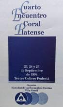 IV Encuentro Coral Platense