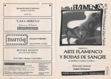 """""""Arte flamenco y Bodas y sangre"""""""