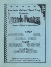 """""""Surcando Fronteras"""" Encuentro cultural de música y danza"""