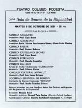 """""""Séptima Gala de danzas de la Hispanidad"""""""