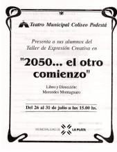 """""""2050... El otro comienzo"""""""