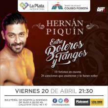 Entre boleros y tangos. Hernán Piquín