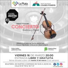 Concierto Brahms y Ravel. Orquesta Teatro Argentino