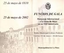 Función de Gala-25 de mayo